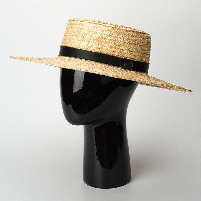 Ala ancha sombrero fedora para mujer 2018 verano Playa Sol sombrero bien  trigo sombreros de paja cb70610f110