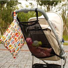 Детская коляска с сетчатым карманом, детская коляска с сеткой для хранения бутылочек, пеленок, органайзер, сумка, держатель, большой размер, аксессуары для коляски
