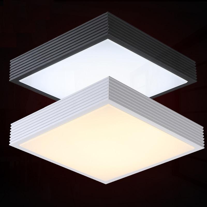 modern brief square mental led ceiling lamp home deco flat foyer bedroom ceiling light fixtures. Black Bedroom Furniture Sets. Home Design Ideas