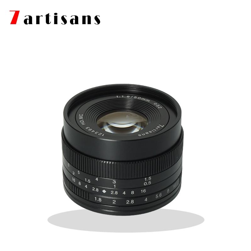 7artisans 50mm F1.8 Manual Focus Prime Lens for Sony E-mount A6500 A6300 A6000 A5100 A5000 NEX-3 NEX-3N NEX-3R NEX-C3 NEX-F3K цена