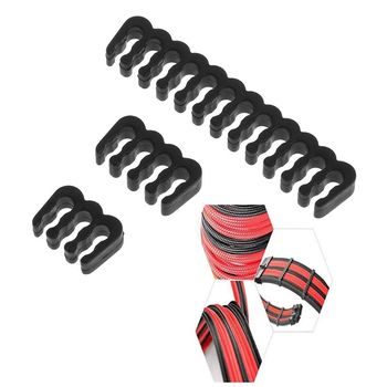 PP Cable Comb /Clamp /Clip /Dresser For 3.0-3.2 mm Cables Black 6/8/24 Pin Computer Cable Comb Black image