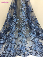 High Quality African Lace Fabric With sequins 2018 Latest nigerianLace Fabric french Lace Fabric For Wedding Dress 5yards/lot