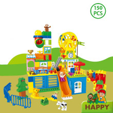 Dreaming Happy Valley 150 Kotak Besar Anak-anak Mainan Plastik Blok Bangunan Seri(China)