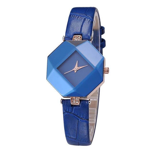 Prix pour Grand strass montre-bracelet dames kezzi marque Forme Irrégulière robe montre étanche or plaqué japon movt temps bijoux k894