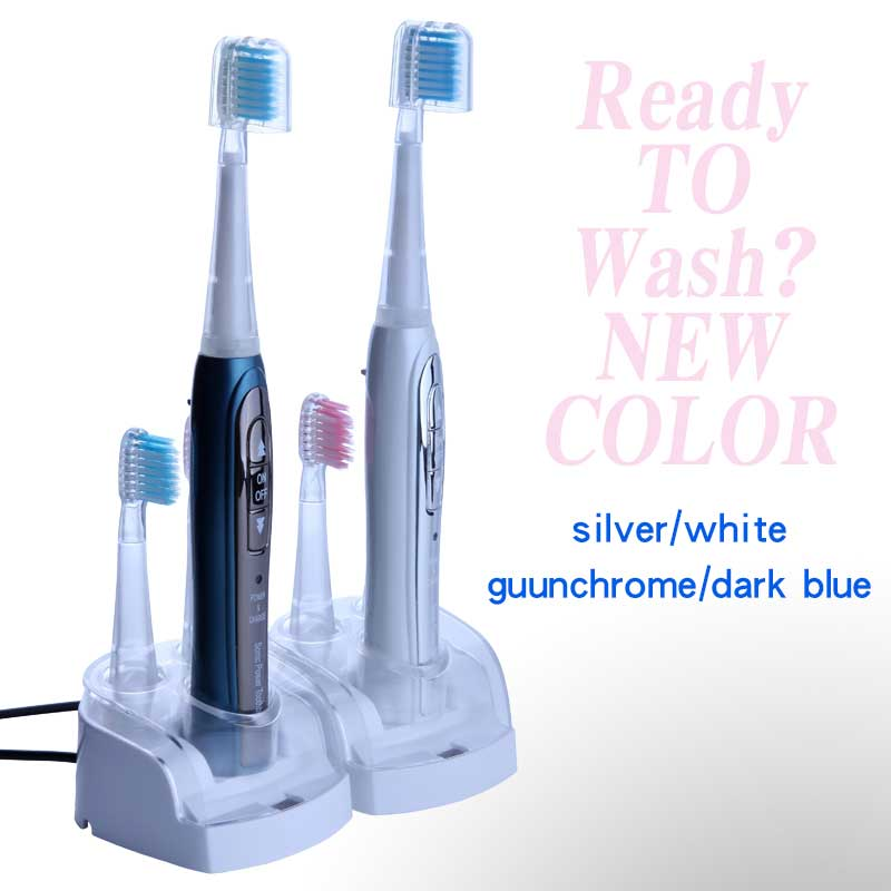 Sonic Electric Toothbrush 1 set 8 extra brushhead Litpack oral hygiene STBR N001 rechargeable waterproof sonic Toothbrush