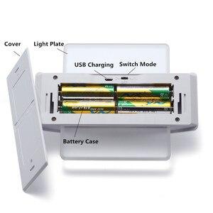 Image 5 - Luz noturna recarregável usb, com sensor de movimento, 14 leds, sem fio, lâmpada de parede, para crianças, cabeceira