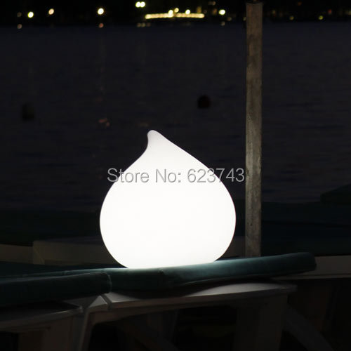 Height32cm 16colors Changeable Cordless Dew Led Round Water Drop Light Waterproof Rechargeable Design Night