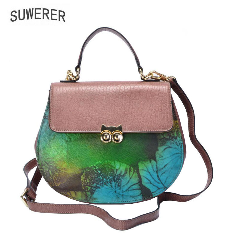 SUWERER 2019 New women genuine leather bag Fashion top Cowhide crossbody bags for women handbags designer tote women bagsSUWERER 2019 New women genuine leather bag Fashion top Cowhide crossbody bags for women handbags designer tote women bags
