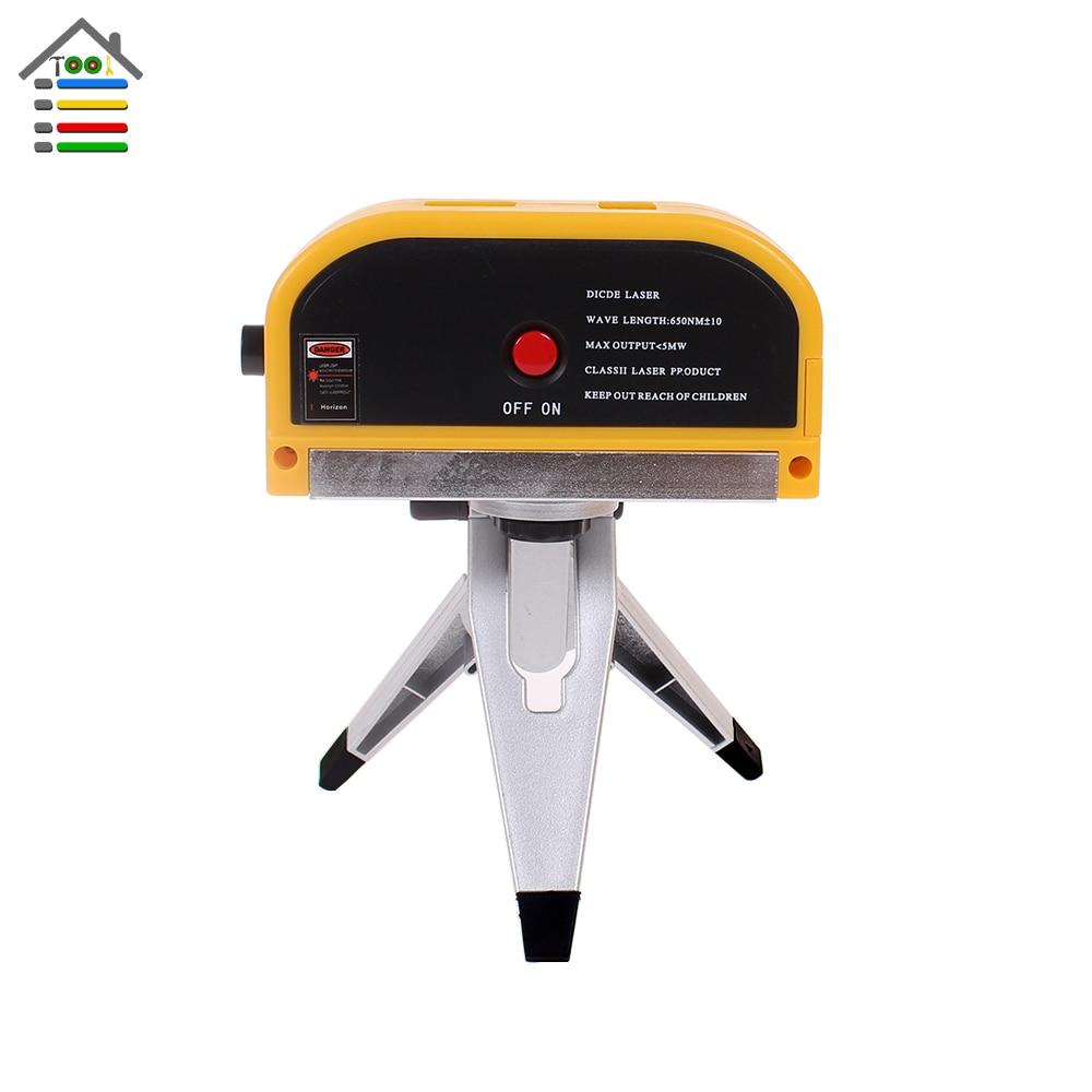 Free shipping New Laser Level Leveler Vertical Cross Line Laser Point Measuring Tool w Tripod