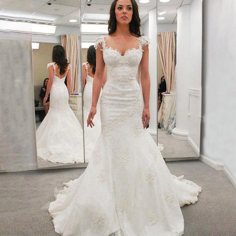 JIERUIZE White Lace Mermaid Wedding Dresses Sweetheart Wedding Gowns Bride Dresses Robe De Mariee