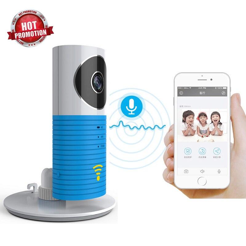 Hot 720 P HD intelligent chien WIFI bébé moniteur réseau sans fil Mini IP caméra de sécurité vidéo Surveillance bidirectionnelle Audio carte de soutien