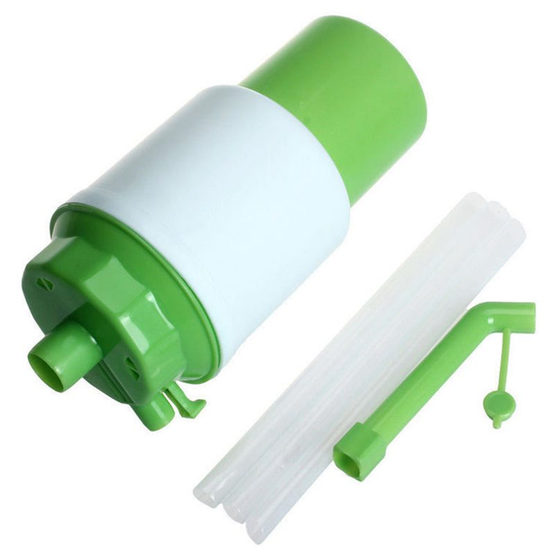 1x Drinking Water Pump Manual Bottled Hand Pressure Portable Pump Dispenser Without Power Supply Outdoor Office