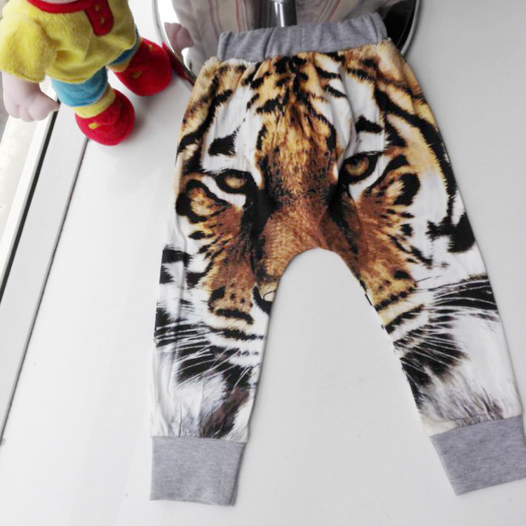 06e1905554b3 Girls Boys Pants Tiger Printed Baby Harem Pants For Boy Girl Kids Children  Cross Trousers Leopard Cotton Clothes A203-in Pants from Mother & Kids on  ...