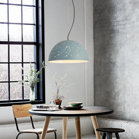 Nordic Restaurant Lamp Color Lampshade Pendant Light Creative Personality Bar Lantern Three Round Hotel Lamps