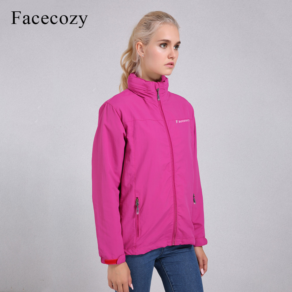 Facecozy Womens Waterproof Hiking Jackets One Layer Thin Spring Summer Autumn Windbreaker Hiking Hunting Outdoor Hooded Jaqueta
