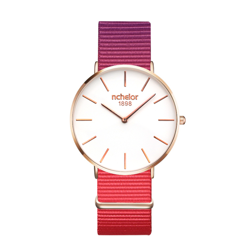 2017 Men Women Watches Top Brand Luxury dress Quartz Watch sport casual Nylon Rose Gold Clock Relojes Mujer Montre Femme Horloge classic icon eiffel tower women crystals watches luxury rose gold plated 316l bracelet clock brand casual relojes 3atm nw4570