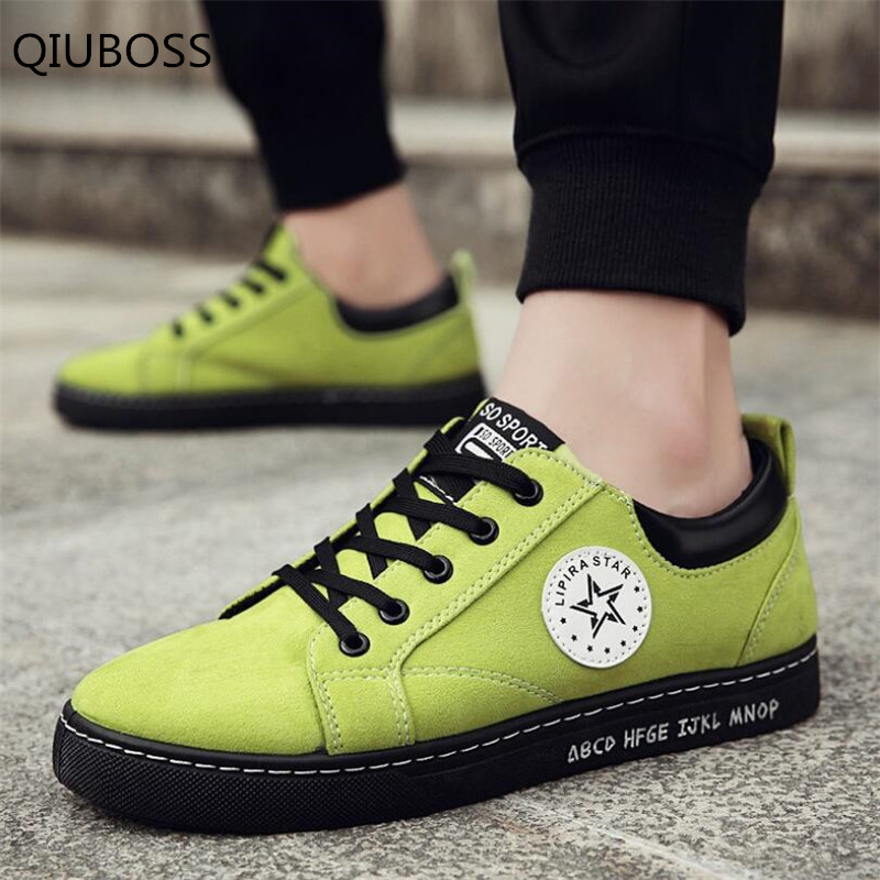 QIUBOSS 2018 Spring And Autumn New Breathable Anti-Skid Men'S Vulcanized shoes Fashion Casual Shoes Sneakers Men'S Shoes Q407(China)