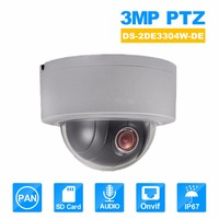 Hikvision PTZ IP Camera DS 2DE3304W DE 3MP Network Mini Dome Camera 4X Optical Zoom Support Ezviz Remote View Security Camera