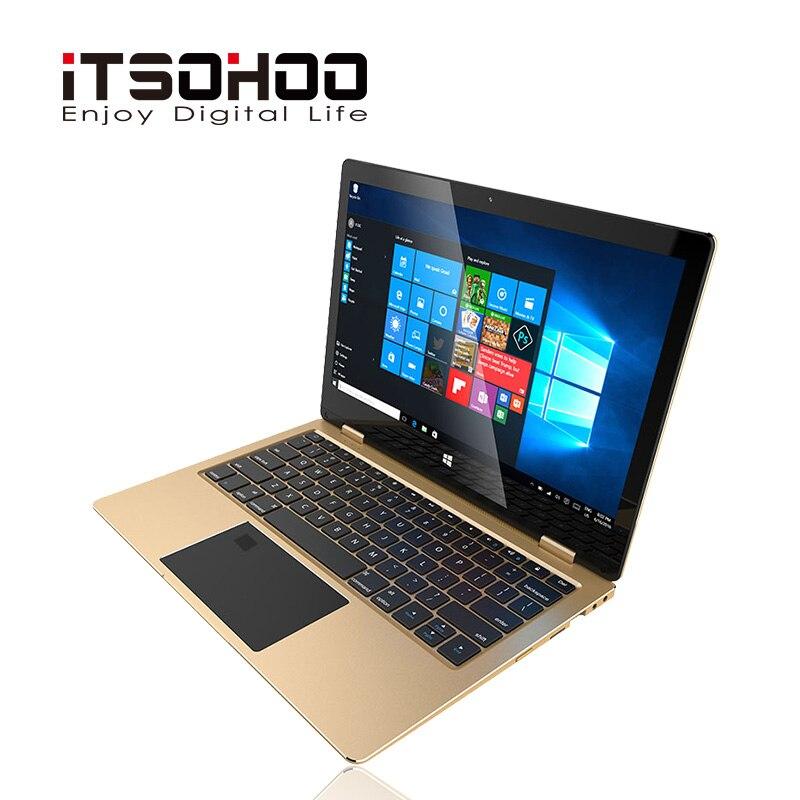 11.6 inch convertible laptops 360 degree touch screen notebook iTSOHOO 8GB RAM Metal Golden laptop fingerprint unlock computer 4