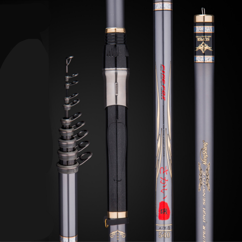 Imported HIgh Carbon Rock Fishing Rod 3.6/4.5/5.4/6.3M Distance Throwing Fihsing Equipment Long Section Telescopic Fishing PoleImported HIgh Carbon Rock Fishing Rod 3.6/4.5/5.4/6.3M Distance Throwing Fihsing Equipment Long Section Telescopic Fishing Pole
