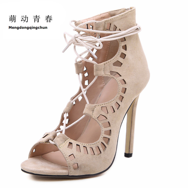 2017 Women Pumps Sexy Pointed Toe High Heels Lace UP Heels Gladiator Pumps Women Wedding Shoes Cut outs Sandalias Sapatos women sandals brand designer gladiator high heels sexy open toe cut outs women shoes lace up shoes woman pumps sandalias mujer