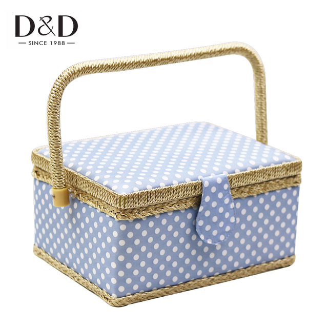 Du0026D Household Sewing Storage Basket Hand-woven Sewing Box DIY Craft Tools Organizer with Free  sc 1 st  AliExpress.com & Du0026D Household Sewing Storage Basket Hand woven Sewing Box DIY Craft ...