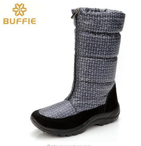 купить Women autumn boots light weight Warm Plush antiskid navy colour soft upper winter shoes snow Boots EUR russia big size 36 to 41 дешево