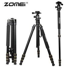 Zomei Q666 Lightweight Tripod For DSLR Camera Ball Head Monopod Tripod Compact Travel Camera Stand For Canon Nikon Sony SLR