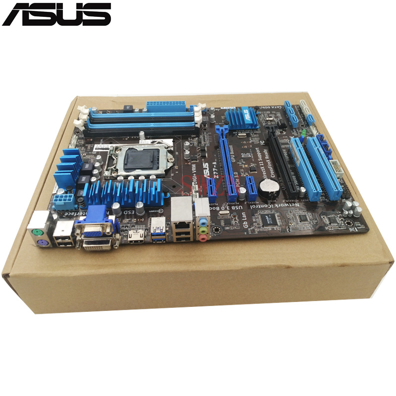 original Used Desktop motherboard For ASUS Z77-A support Socket LGA 1155 I7 I5 I3 4*DDR3 support 32G 2*SATA3 4*SATA2 ATX asus m4a88t m desktop motherboard 880g socket am3 ddr3 sata ii usb2 0 uatx