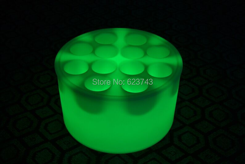 Waterproof 10 Holes Light Up LED Serving Tray Multi Colors Rechargeable Flashing LED fruit drinks Bars trays Holder light
