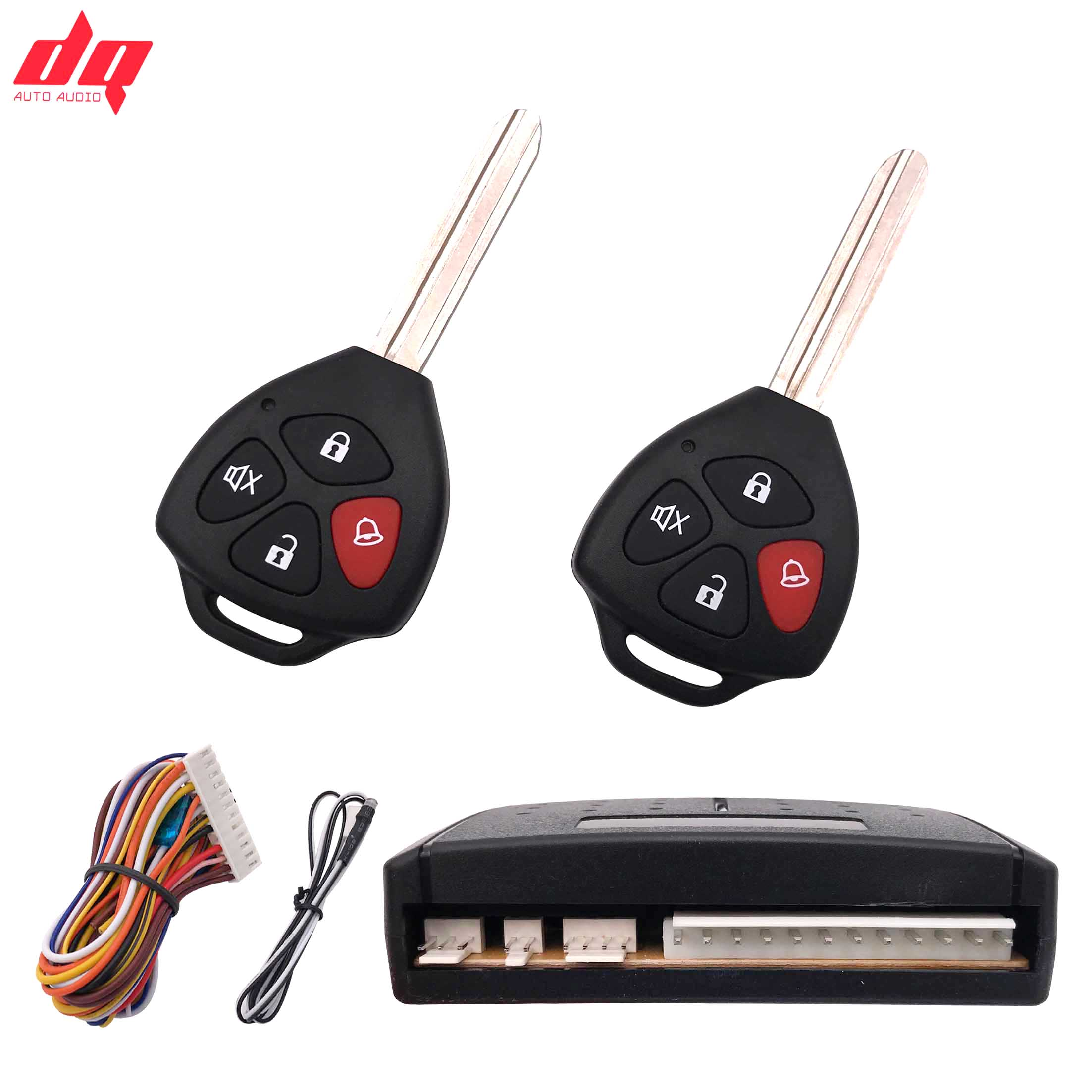 Car Alarm For Toyota 12+4 Auto Remote Central Kit Door Lock Vehicle Locking System With Key Central Locking Remote Control