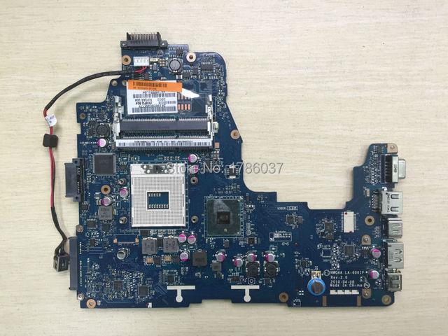 Envío libre k000104250 la-6061p para toshiba satellite a660 a665 series placa madre del ordenador portátil. todas las funciones 100% Probado completamente!