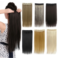 1Pc Clip In Hair Extensions Synthetic Hair Extension One Piece Full Head  Long Straight Natural Hairpiece Good Gifts 666