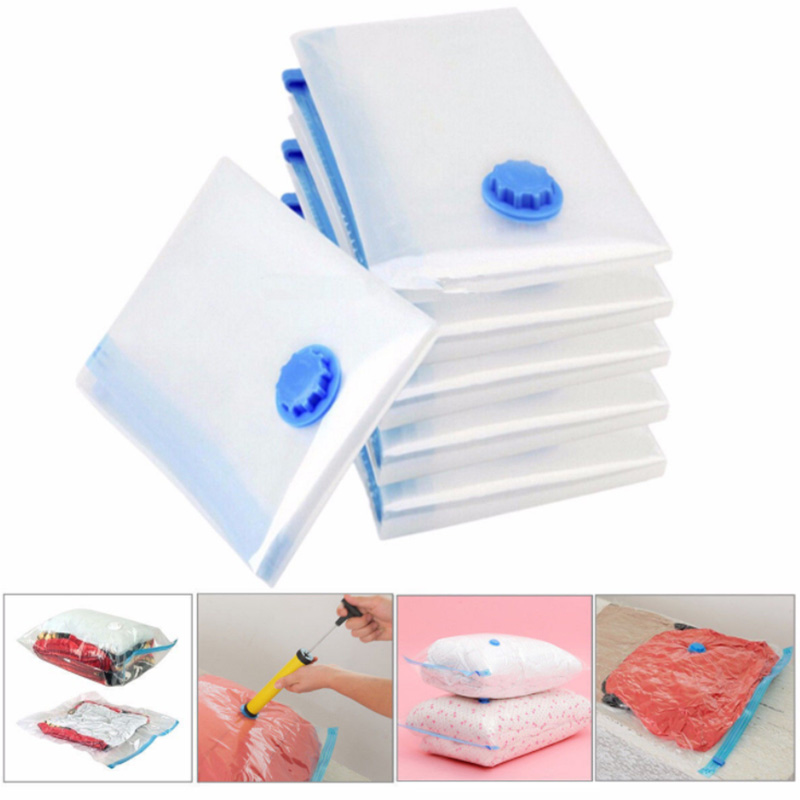 Vacuum Storage Bag Foldable Extra Large Compressed Bag Transparent Border Compressed Organizer Saving Space Seal Bags