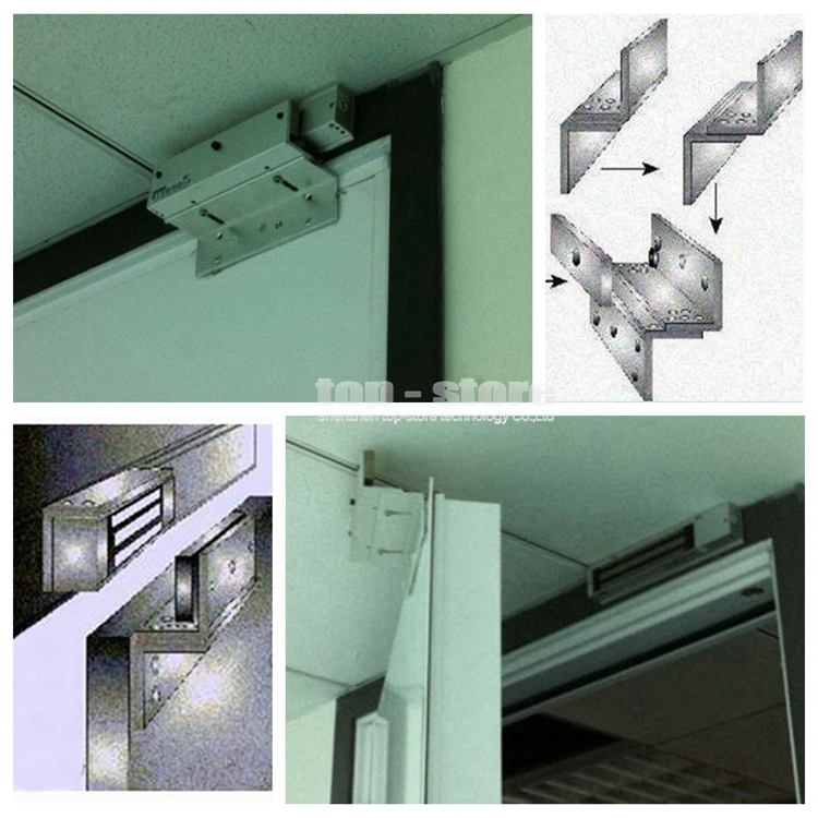 DIYSECUR ZL Bracket Use With 280kg Electronic Magnetic Lock For Narrow Door / Access Control System