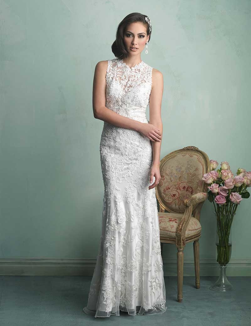 Fancy Casual Lace Wedding Dresses Festooning - All Wedding Dresses ...