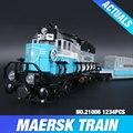 Lepin 21006 Nuevo 1234 Unids Genuino Technic Serie Ultimate El Maersk Tren De Juguete Bloques de Construcción de Ladrillos de Juguetes Educativos