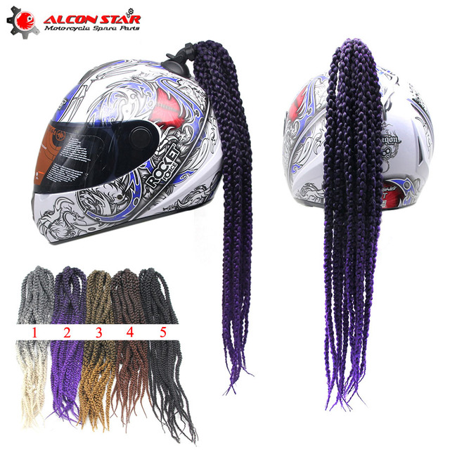 Alconstar Man Women Freestyle Motorcycle Helmet Dreadlocks Decoration Punk Dirty Braid Motocross Motorbike Racing For