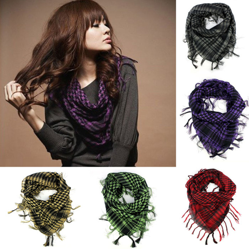 2017 Women Mens Autumn Winter Warm Kerchief Scarf Unisex Plaid Tassels Wrap Shawl Arab Shemagh Keffiyeh Palestine Scarf Bufanda