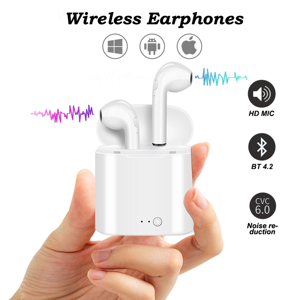 Dseastyle 2019 New Wireless Bluetooth Earphone Bluetooth Headset Wireless Earphones With Charging Box Mic Gift for Android IOS