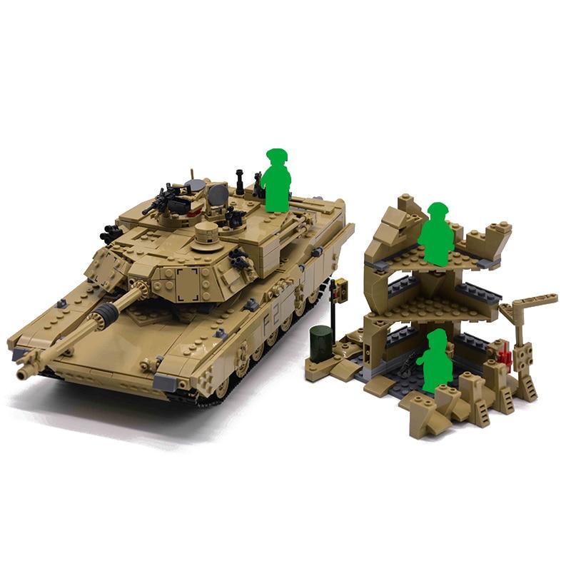 1463pcs Militare M1A2 Serbatoio Mattoni Abrams Serbatoio di Battaglia Principale Edificio Mini Figure Blocco Set di Modelli 2in1 Giocattoli Compatibile-in Blocchi da Giocattoli e hobby su  Gruppo 3