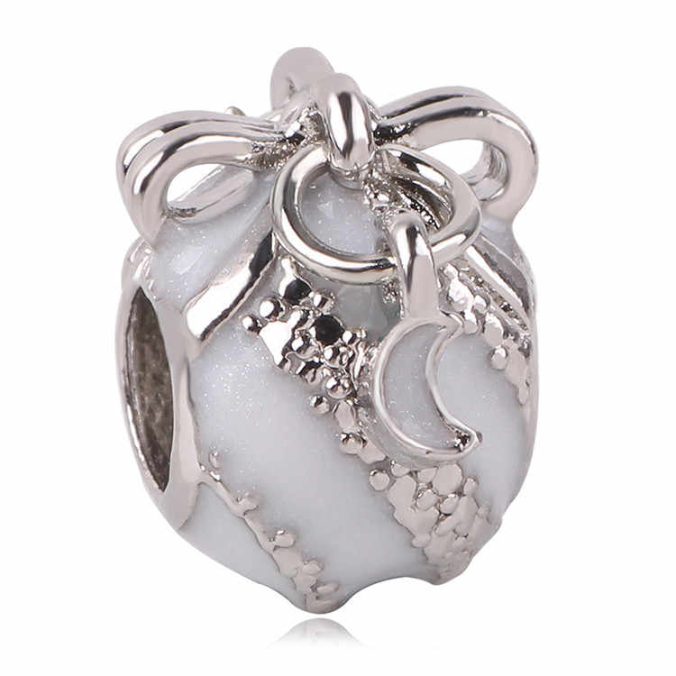Collar con colgante de AIFEILI apto para Pandora encanto popular chica personalidad regalo pulsera con cuentas fijadas Mickey plata azul