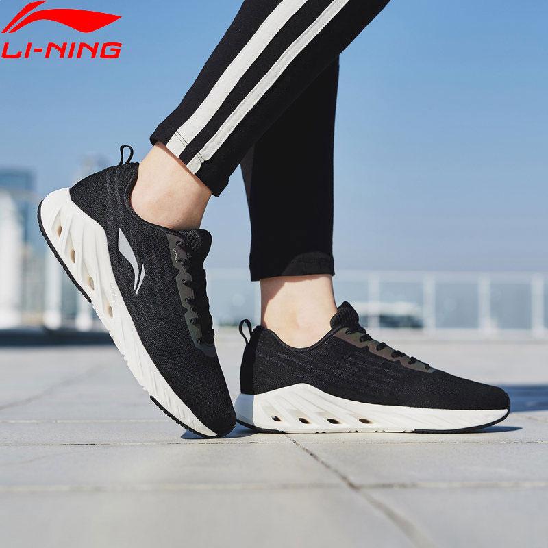 Li Ning Women LN ARC 2018 Cushion Running Shoes Mono Yarn Breathable LiNing Wearable Sport Shoes