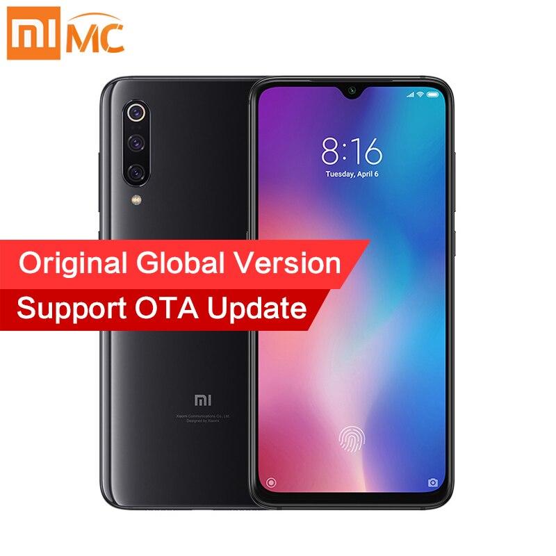 Versão Global Xiao mi mi 9 6GB 128GB Smartphone Snapdragon 855 Núcleo octa 48MP Câmeras Triplo Carregamento Sem Fio NFC QC4.0 Face ID
