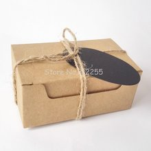 Wholesales/Retails 100 Pieces Rectangle Gift Wrapping Kraft Paper Box With Tags & Hemp Rope Cardboard Paper Soap Box SOB-005