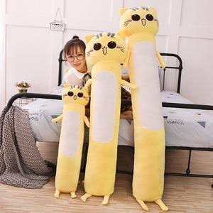 Image 4 - 90 165 センチメートル大サイズのおもちゃかわいい黄色の猫pllowソフトクッションぬいぐるみ猫ぬいぐるみクリスマスギフト子供のための