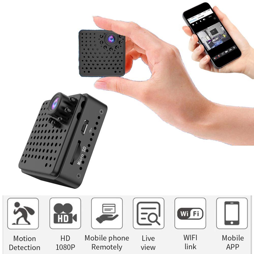 Caméra secrète Micro IP Vision nocturne Wifi Mini caméra HD 1080 p 4 K avec capteur de mouvement Wi-Fi petit boîtier de poche DV caméscope 4 K