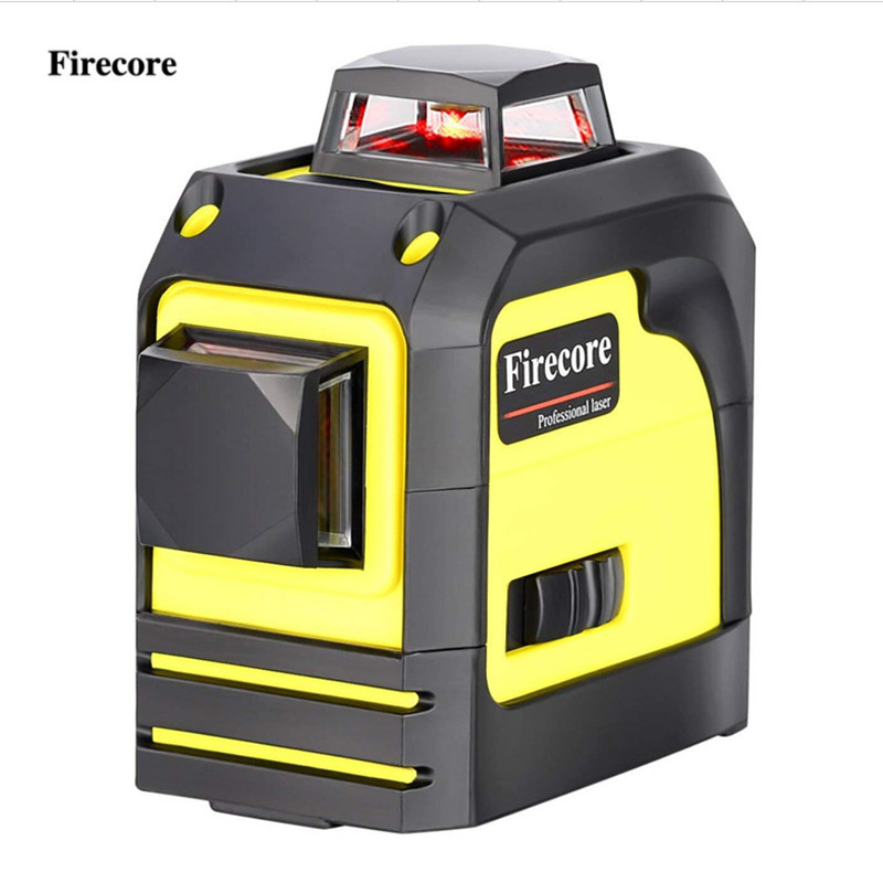 Firecore 8Lines 92T Laser Level Self-Leveling (4 degrees) Horizontal And Vertical Cross Line Super Powerful Red Laser Beam Line цена