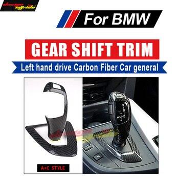 עבור BMW 2-סדרת באיכות גבוהה יד שמאל כונן פחמן רכב genneral Gear Shift Knob כיסוי & Surround כיסוי פנים לקצץ + C סגנון
