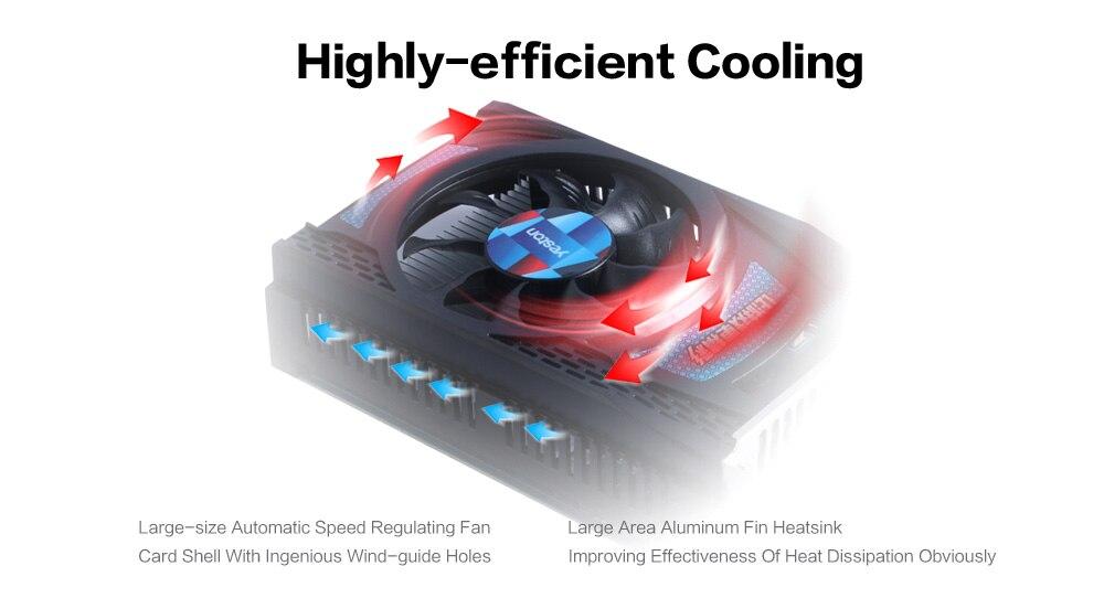 US $72 96 25% OFF|Yeston Radeon RX 550 GPU 2GB GDDR5 128bit Gaming Desktop  computer PC Video Graphics Cards support DVI D/HDMI PCI E 3 0-in Graphics